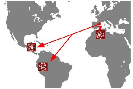 Mapa accions cooperació